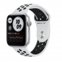 Apple Watch Nike SE GPS 44mm Silver Aluminum Case with Pure Platinum:Black Nike Sport Band (MYYH2)