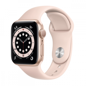 Apple Watch Series 6 40mm Gold Aluminum Case with Pink Sand Sport Band (MG123)
